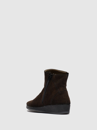 SOFTINOS Firebrick Wedge Ankle Boots