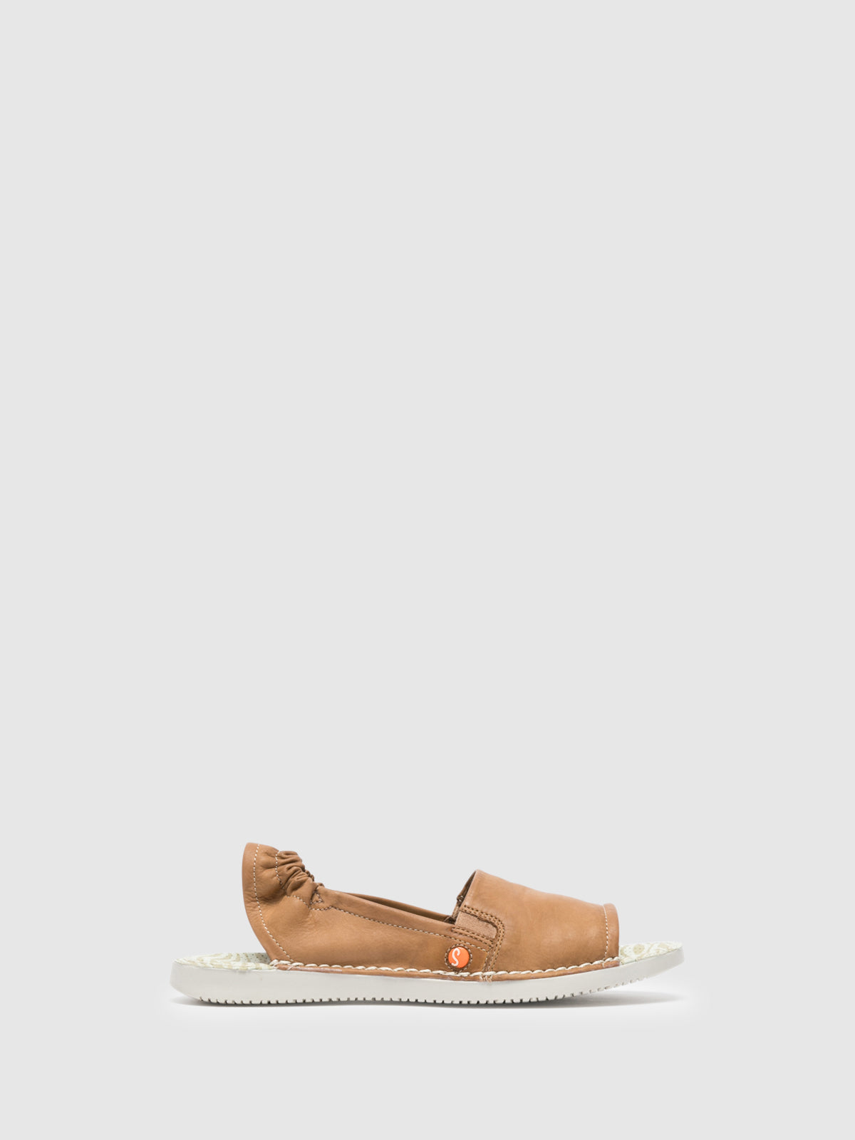 SOFTINOS Brown Sling-Back Sandals
