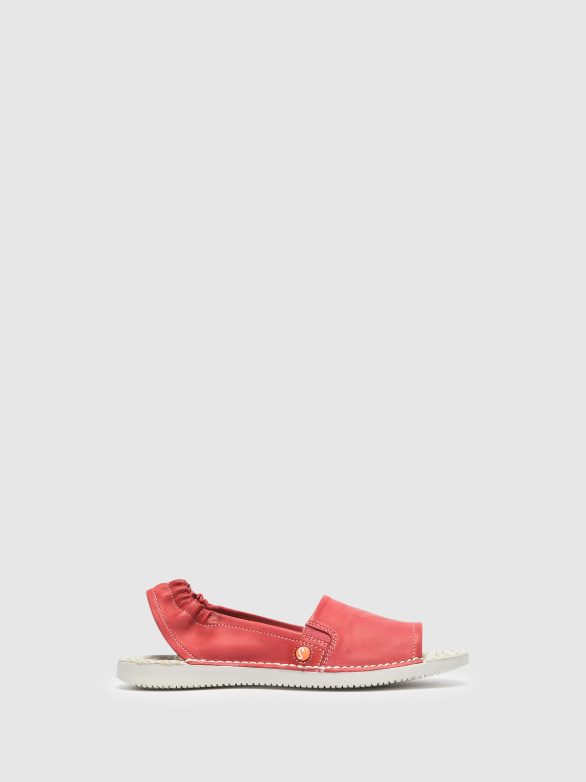 SOFTINOS Red Sling-Back Sandals