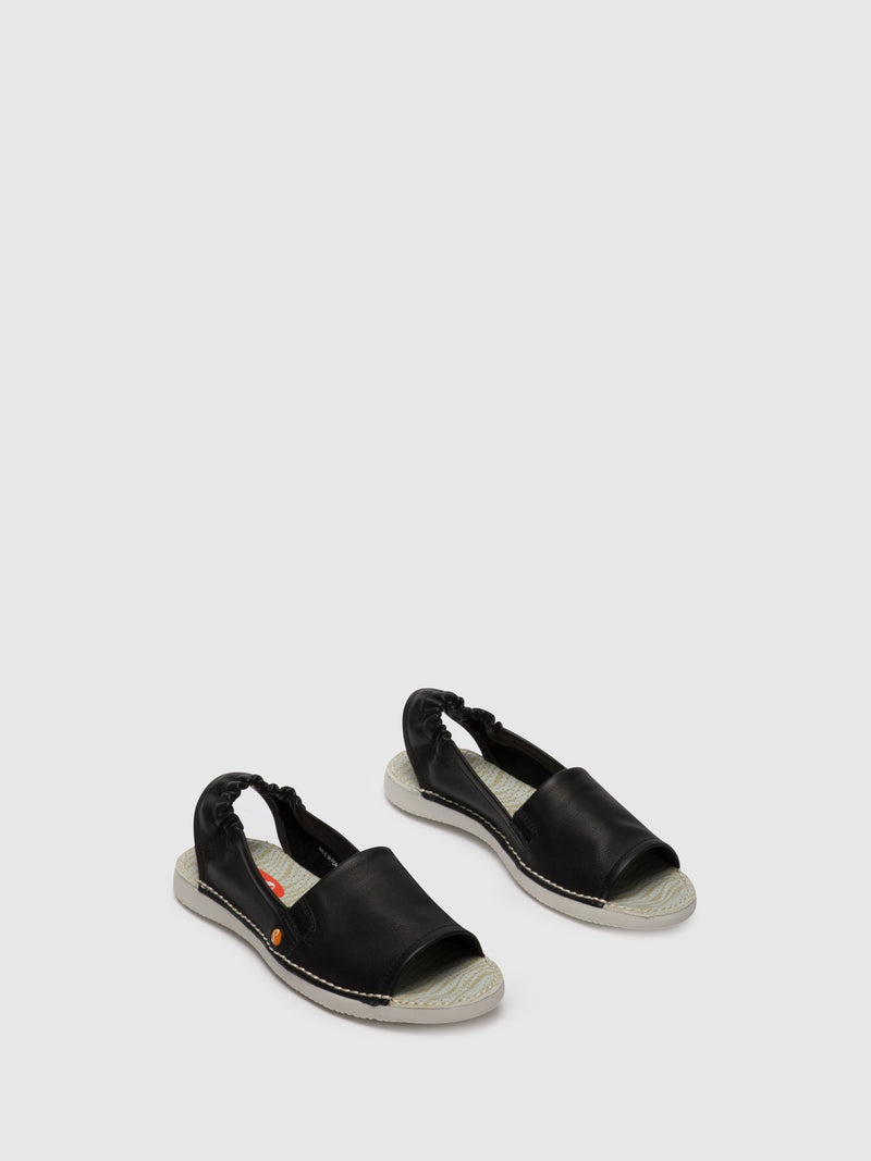 SOFTINOS Sling-Back Sandals TEE430SOF Black