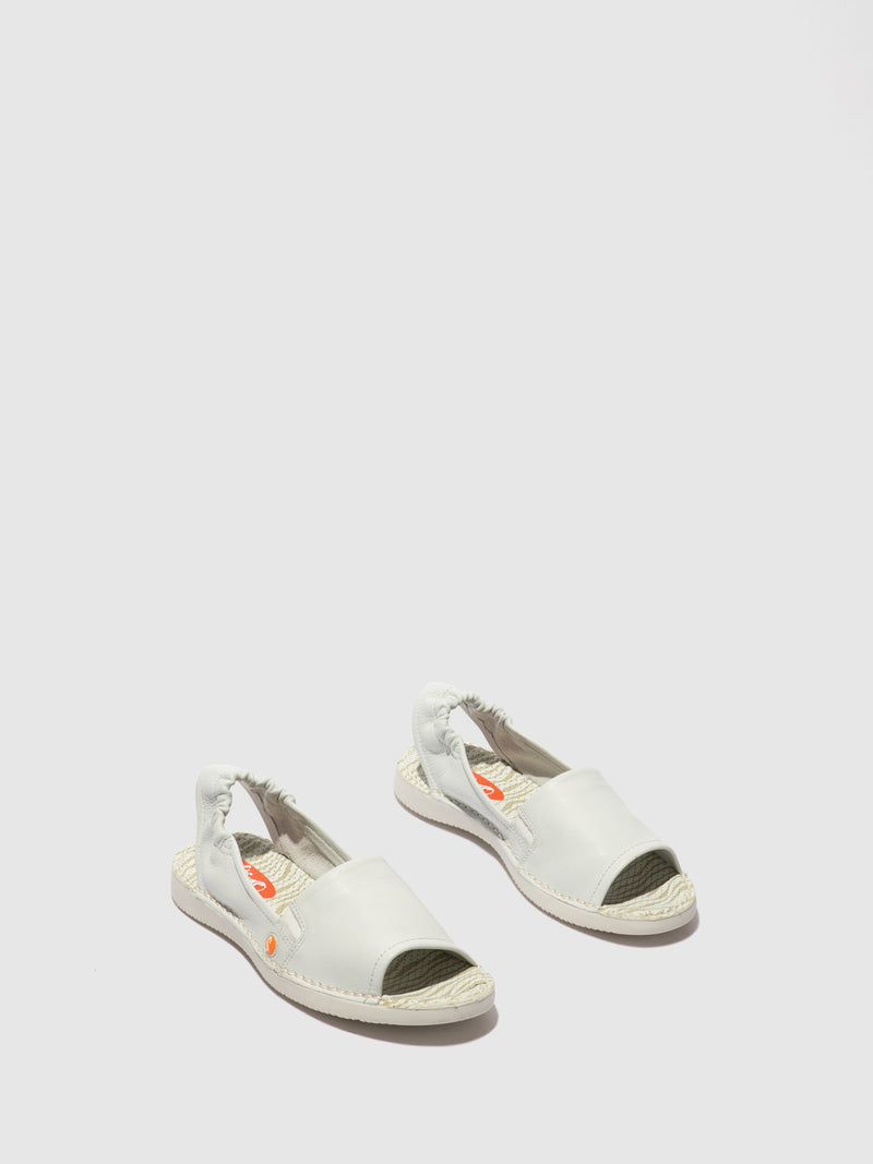 Softinos Sling-Back Sandals TEE430SOF SMOOTH WHITE