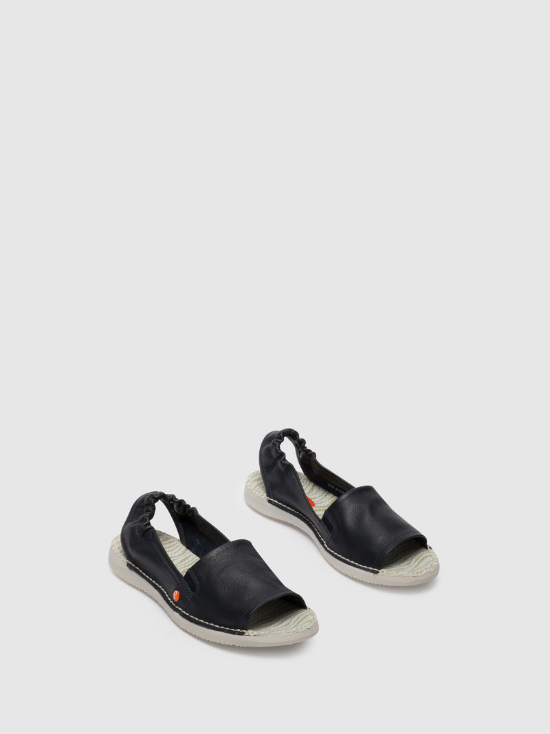 SOFTINOS Sling-Back Sandals TEE430SOF Navy