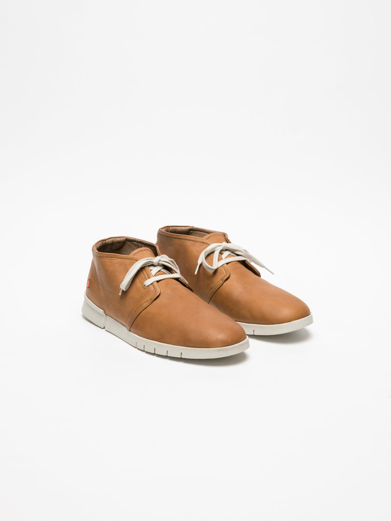 Brown Low-Top Trainers