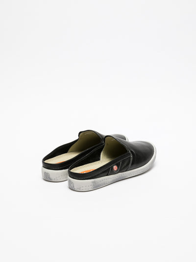 SOFTINOS Black Casual Slides