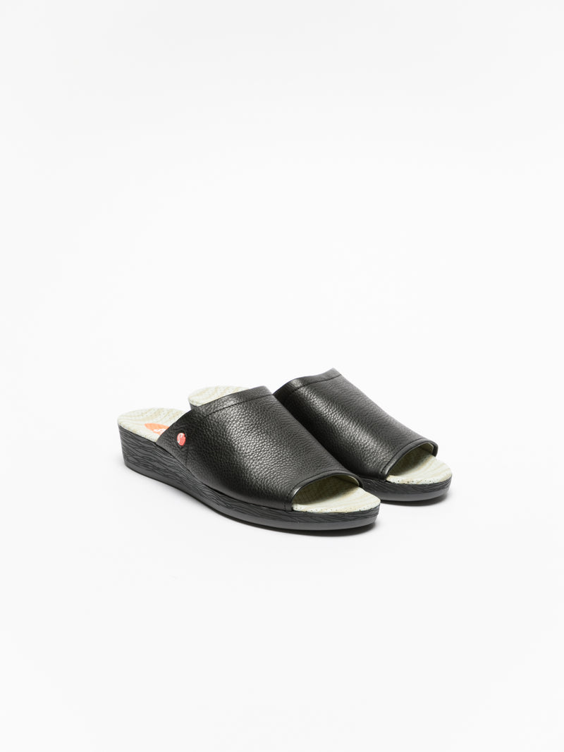 Black Casual Slides
