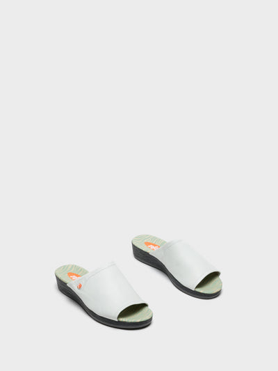 SOFTINOS White Casual Slides