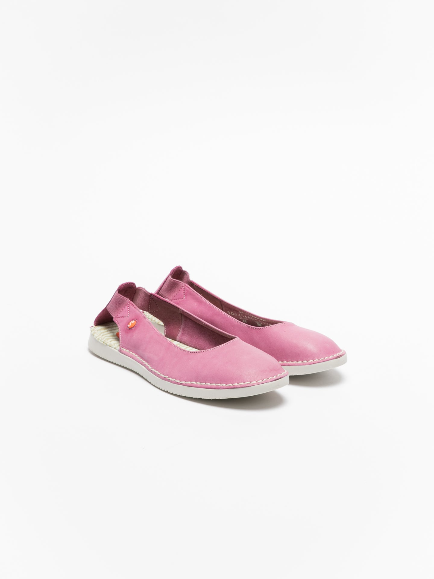 Softinos Pink Elasticated Ballerinas