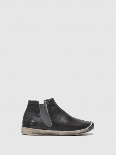 SOFTINOS DarkGray Round Toe Ankle Boots