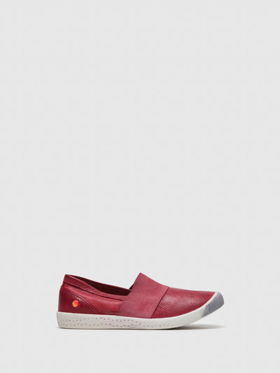 SOFTINOS Red Slip-on Trainers
