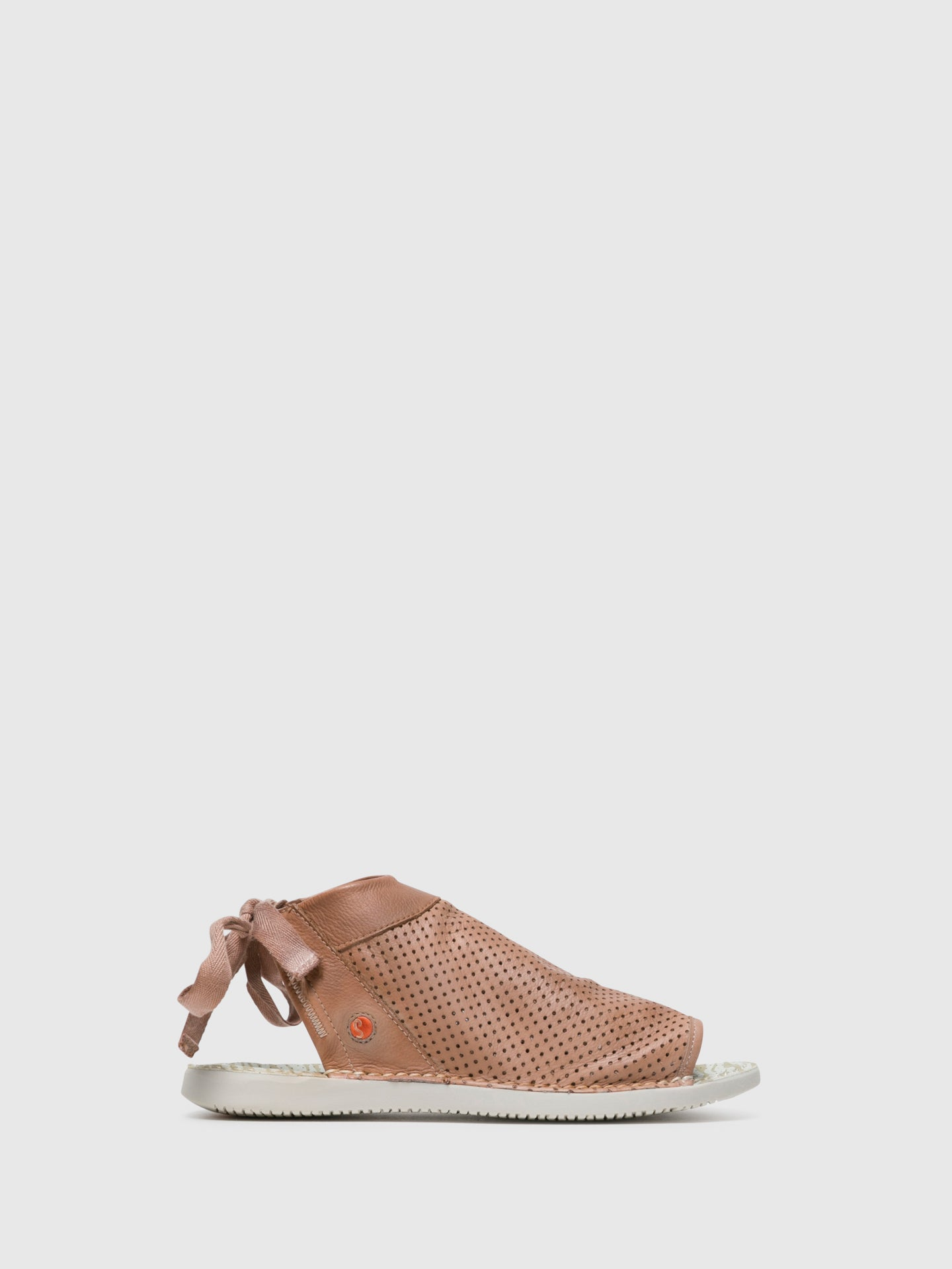 SOFTINOS DarkSalmon Flat Sandals