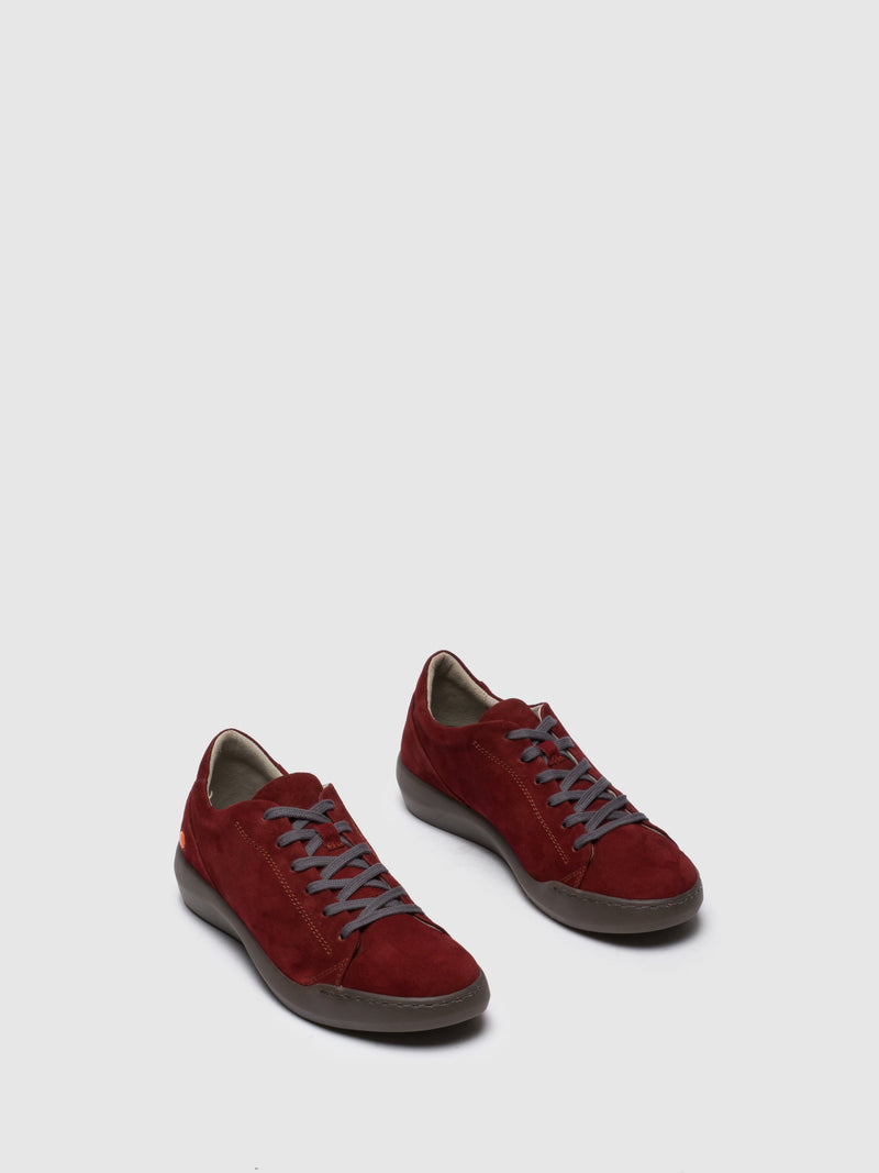 SOFTINOS DarkRed Lace-up Trainers