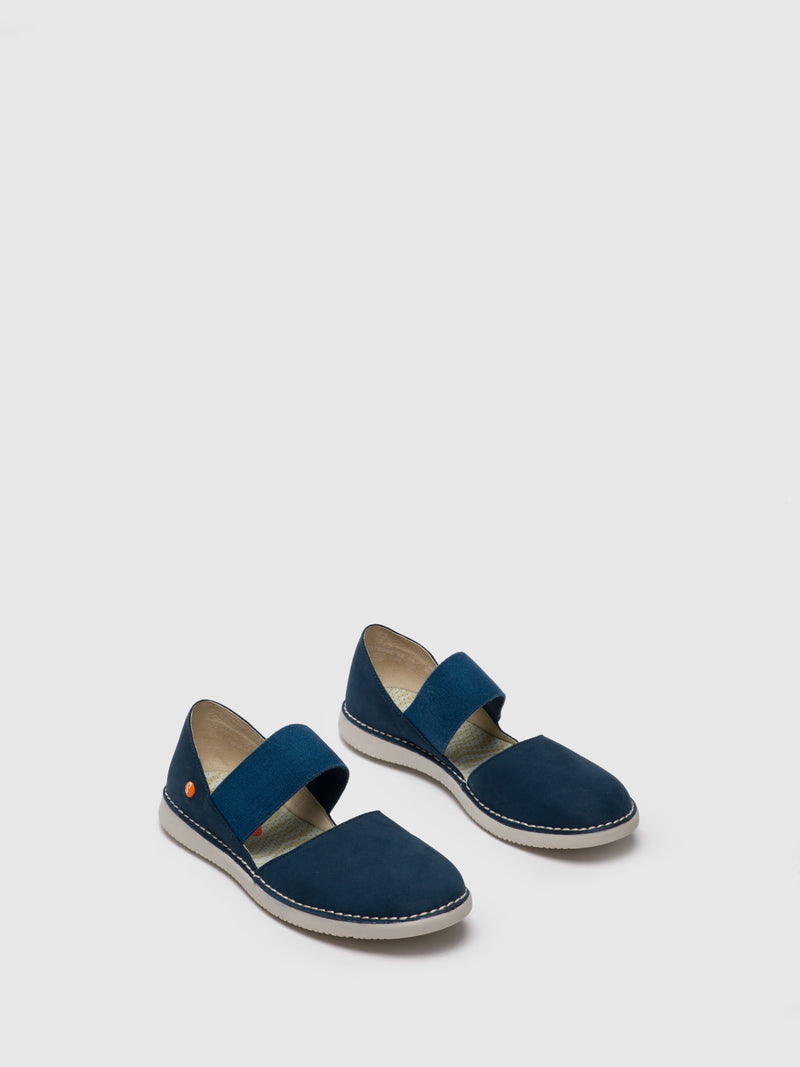 Navy Elasticated Shoes
