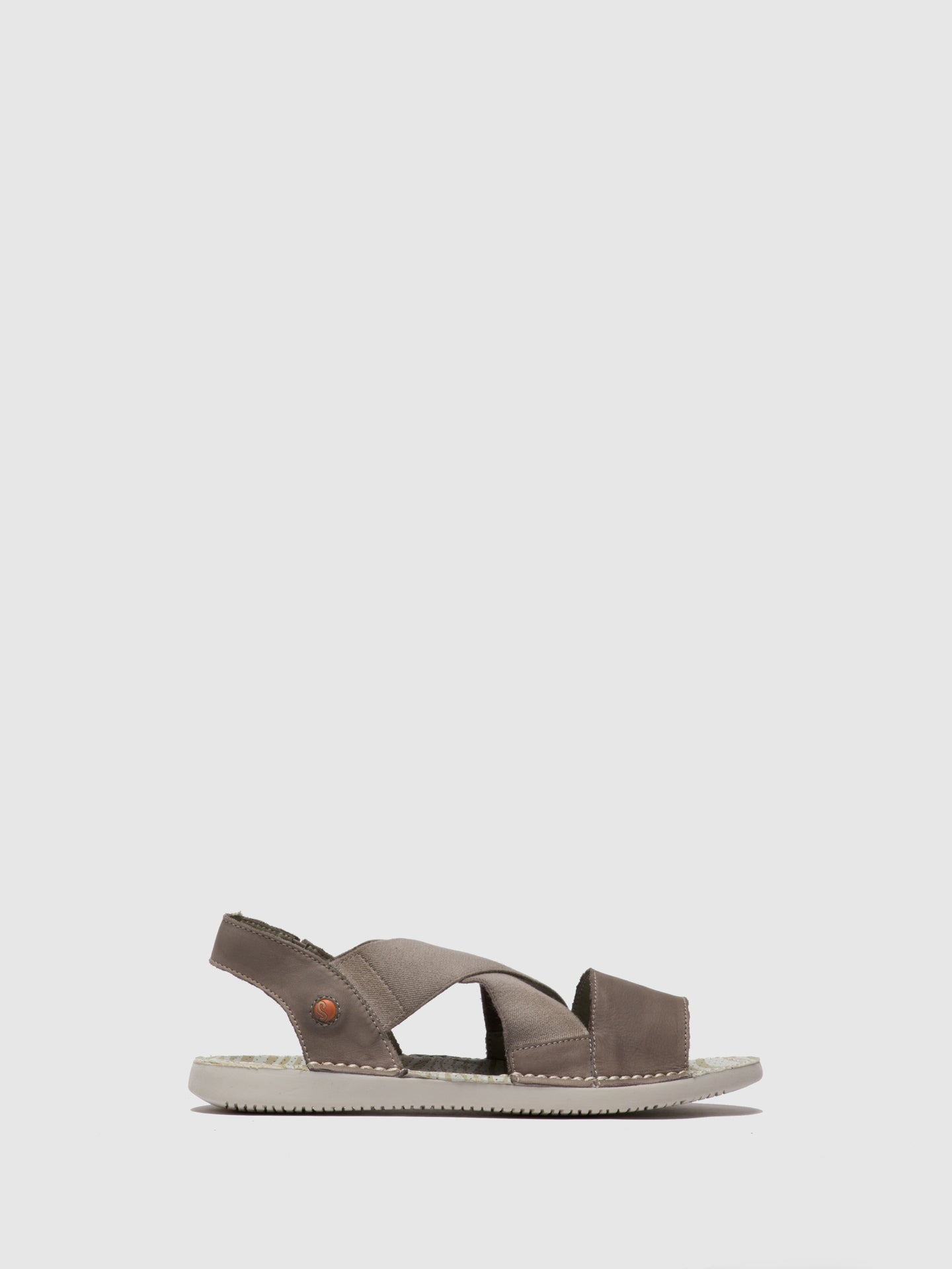 SOFTINOS Crossover Sandals TEUL580SOF Taupe