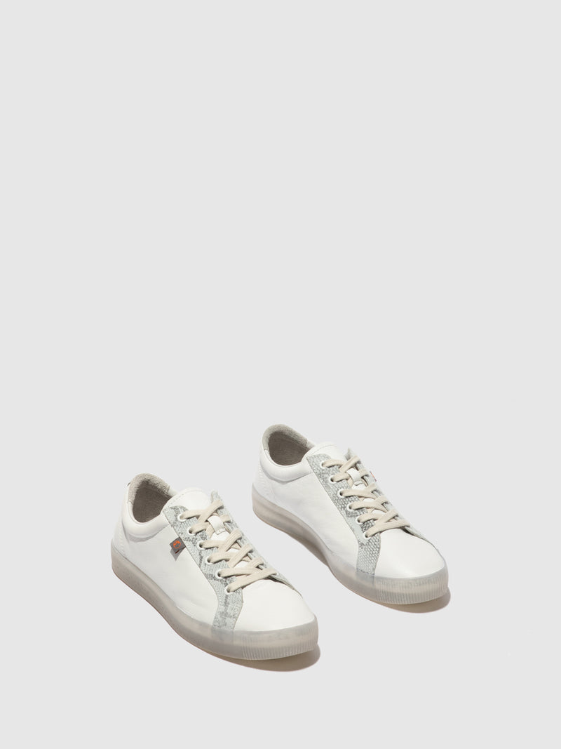 Softinos Lace-up Trainers SURY585SOF SMOOTH WHITE/LIGHT GREY SNAKE