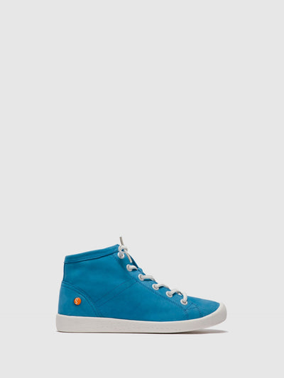 SOFTINOS Blue Lace-up Ankle Boots