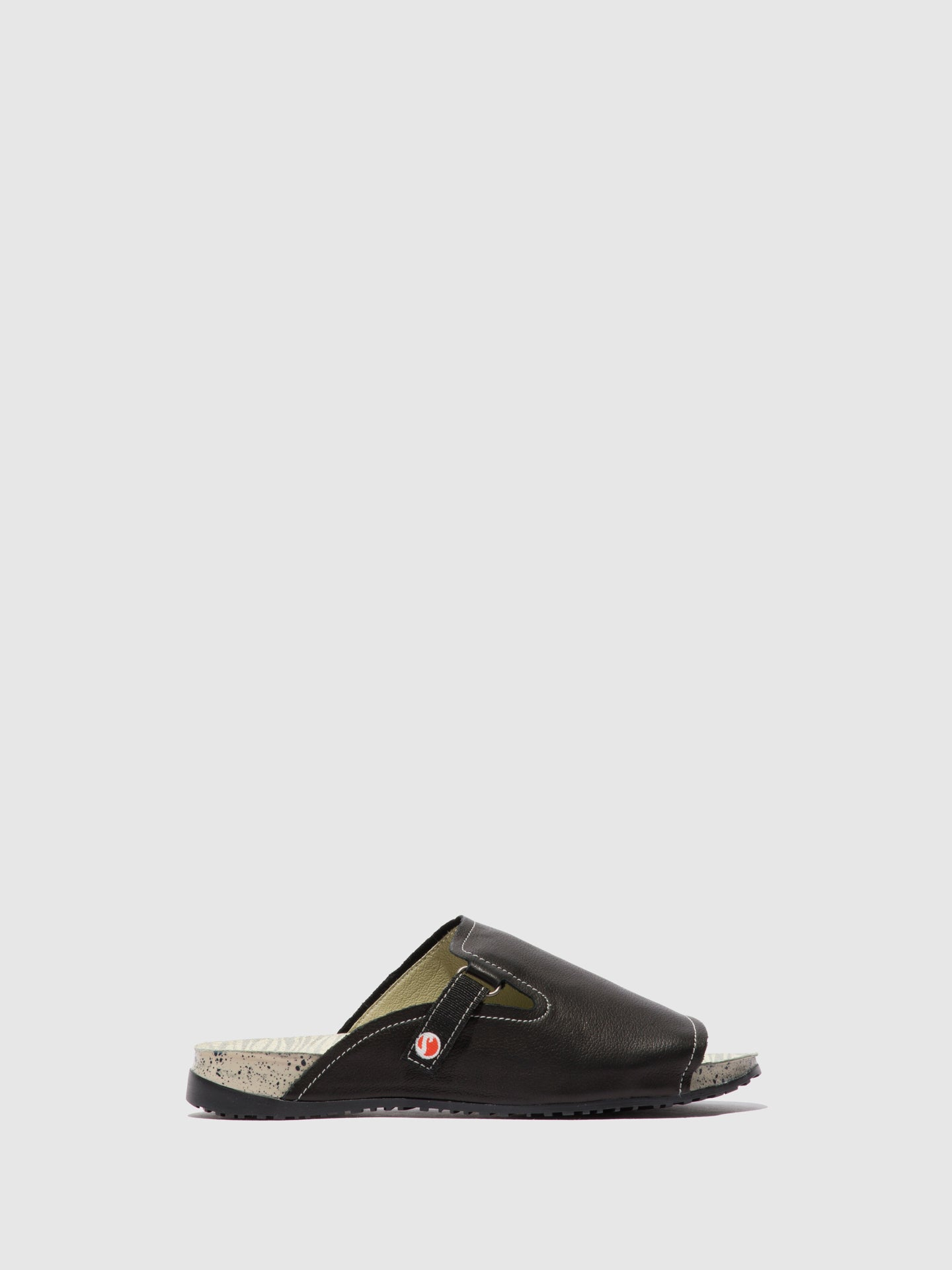 Softinos Open Toe Mules KARI590SOF Black