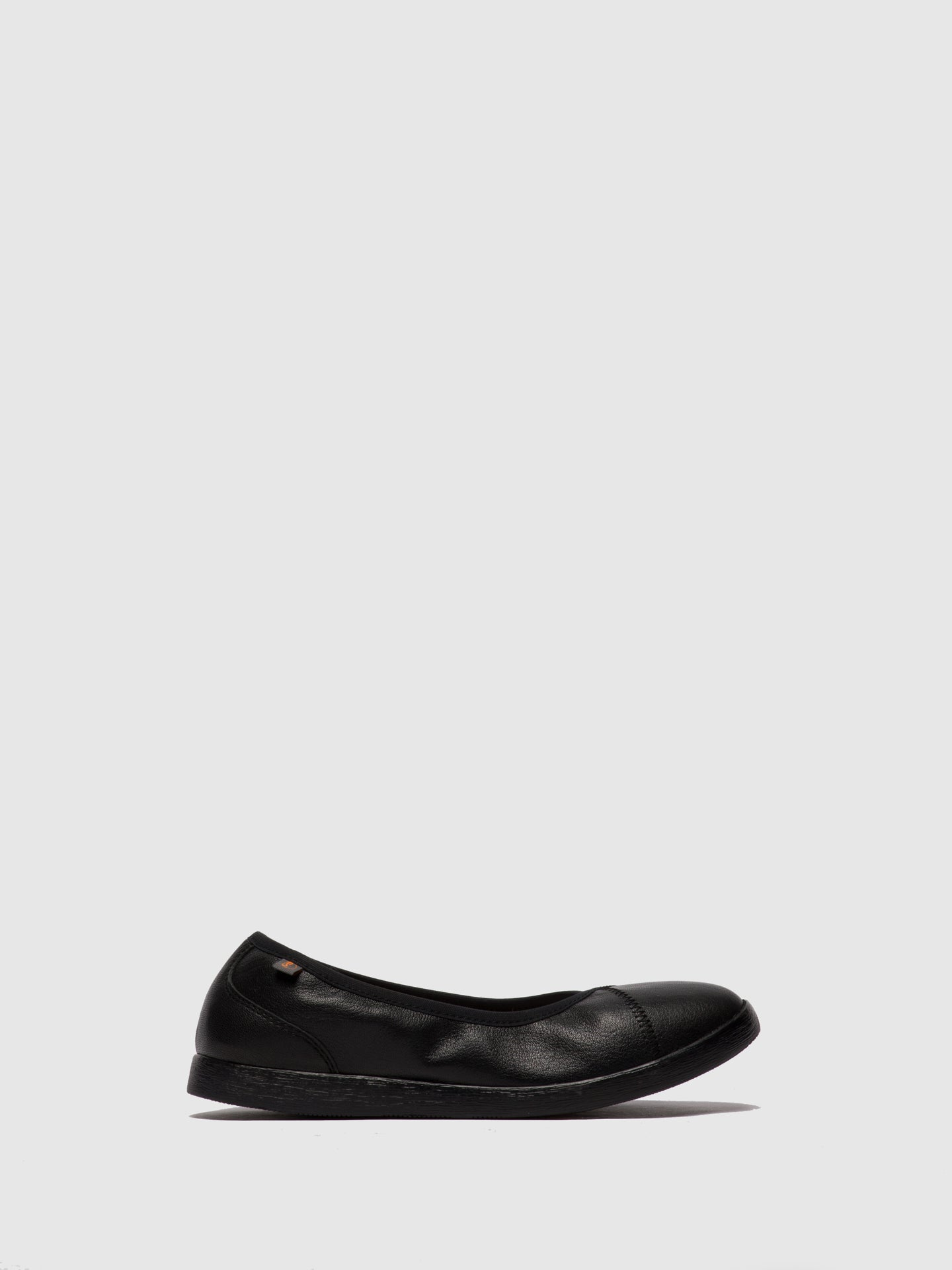 SOFTINOS Black Slip-on Shoes