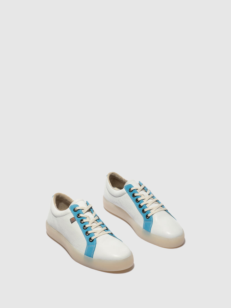 Softinos Lace-up Trainers REED595SOF White/Azure