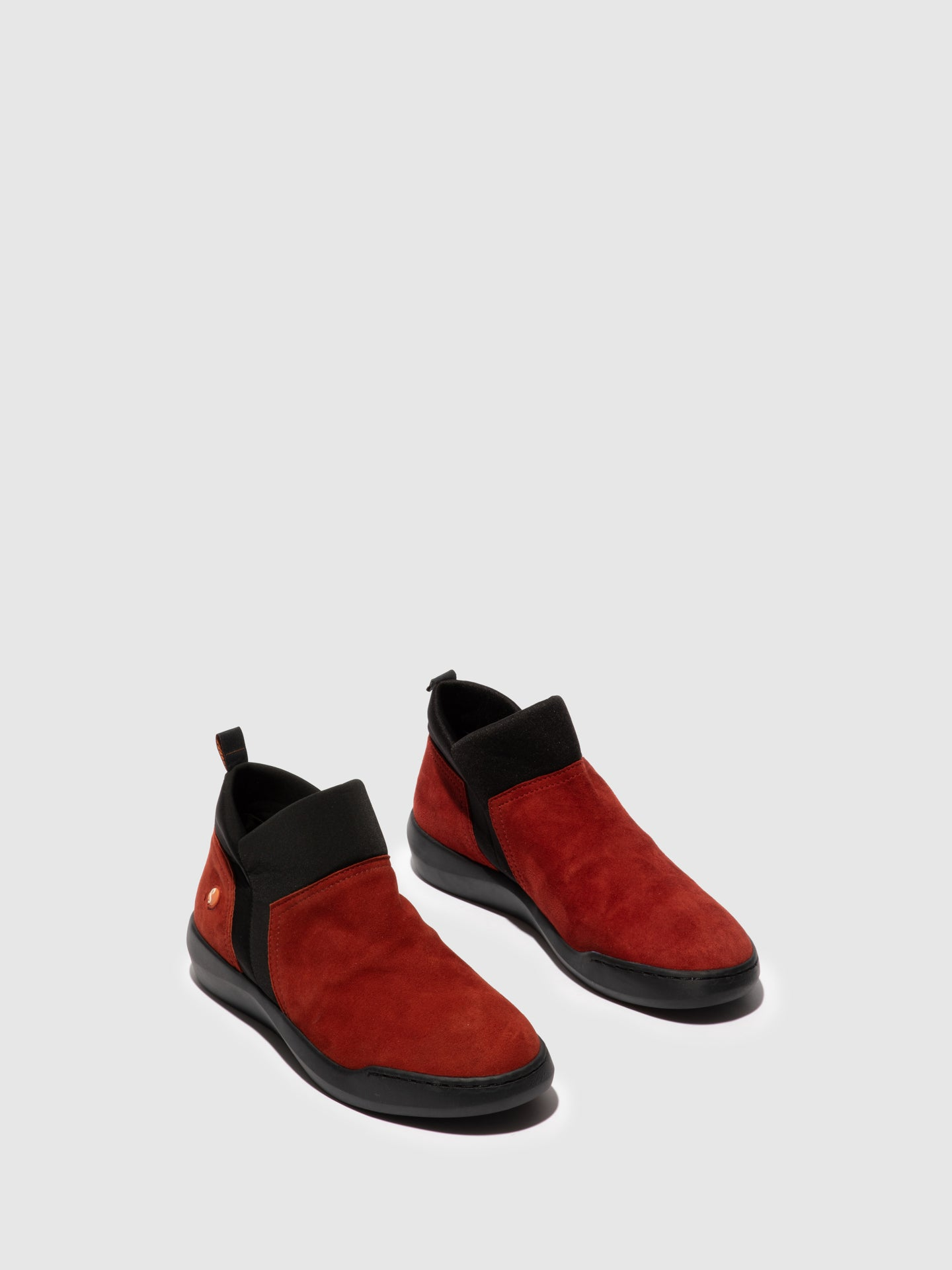 Softinos Elasticated Ankle Boots BELU598SOF RED