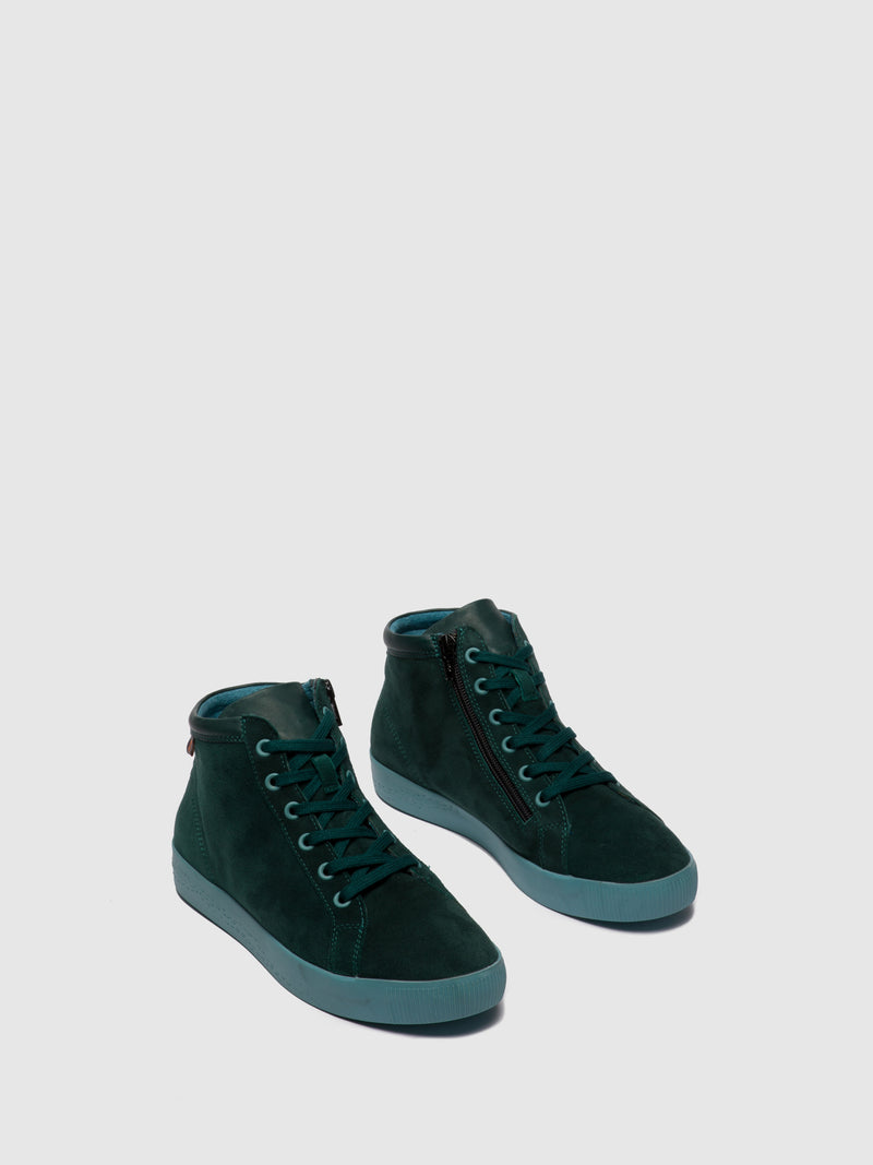 Softinos Zip Up Ankle Boots SAGE602SOF FOREST GREEN
