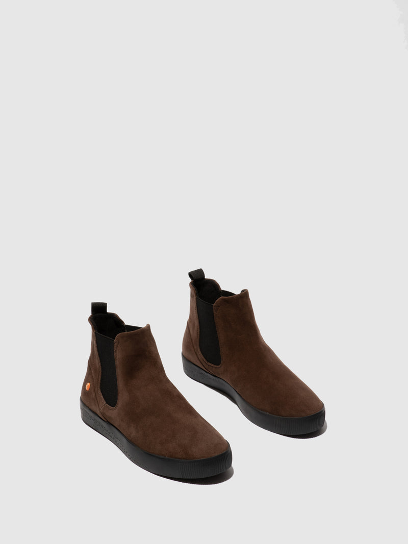 Softinos Chelsea Ankle Boots SAHA608SOF BROWN