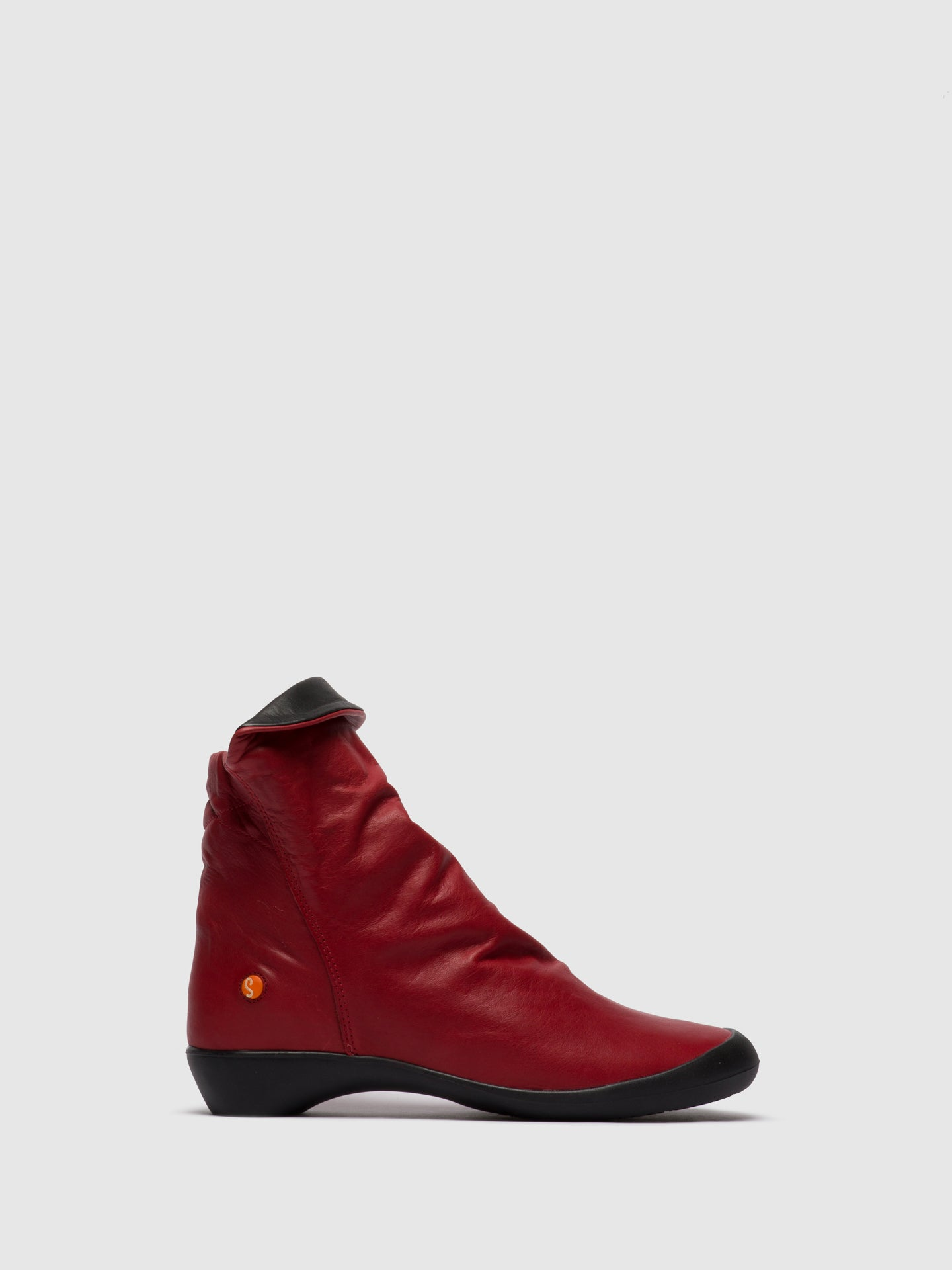 Softinos Zip Up Ankle Boots FIEL615SOF RED