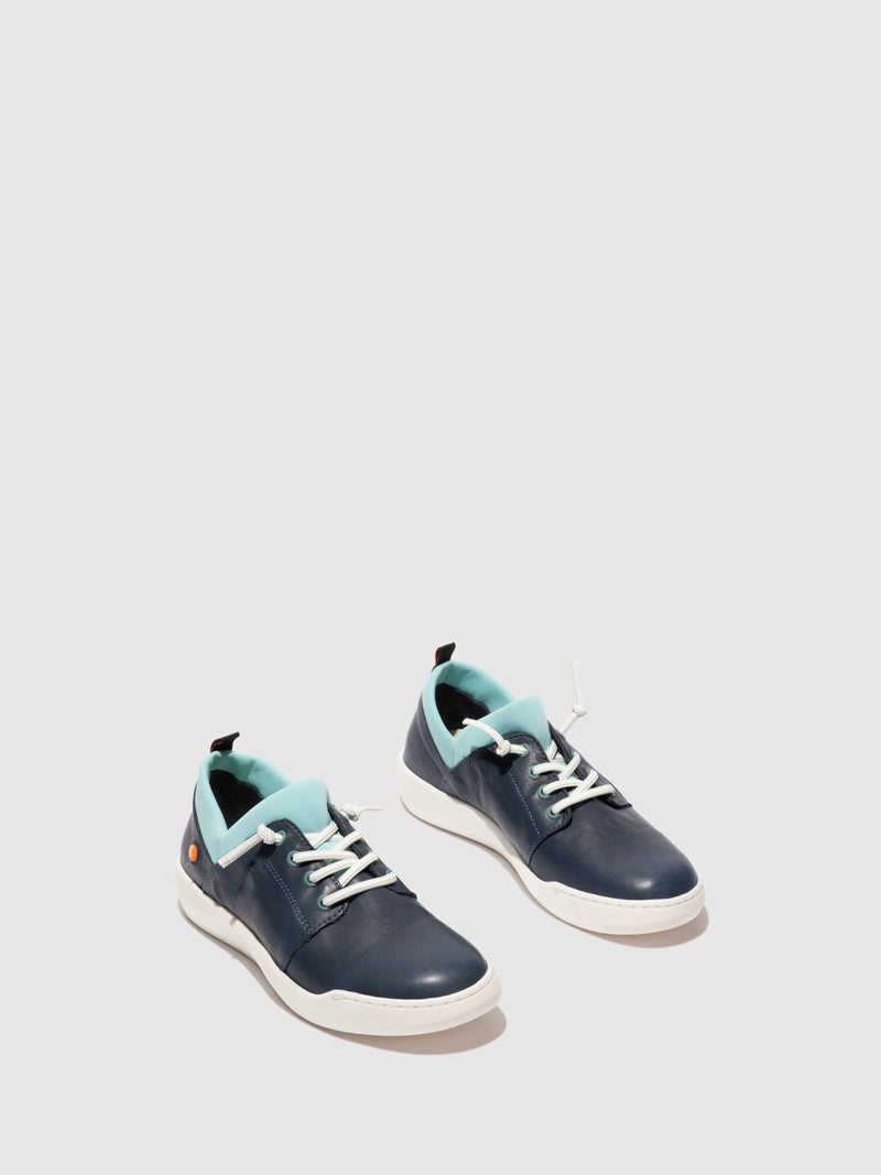 Softinos Elasticated Trainers BRYA638SOF SMOOTH NAVY