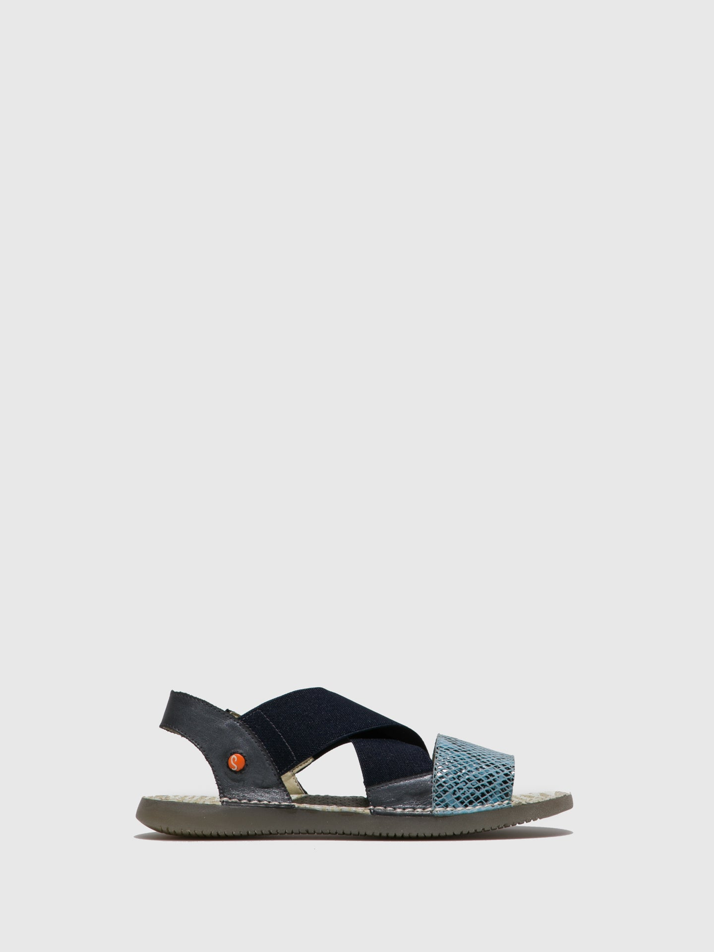 SOFTINOS Blue Crossover Sandals