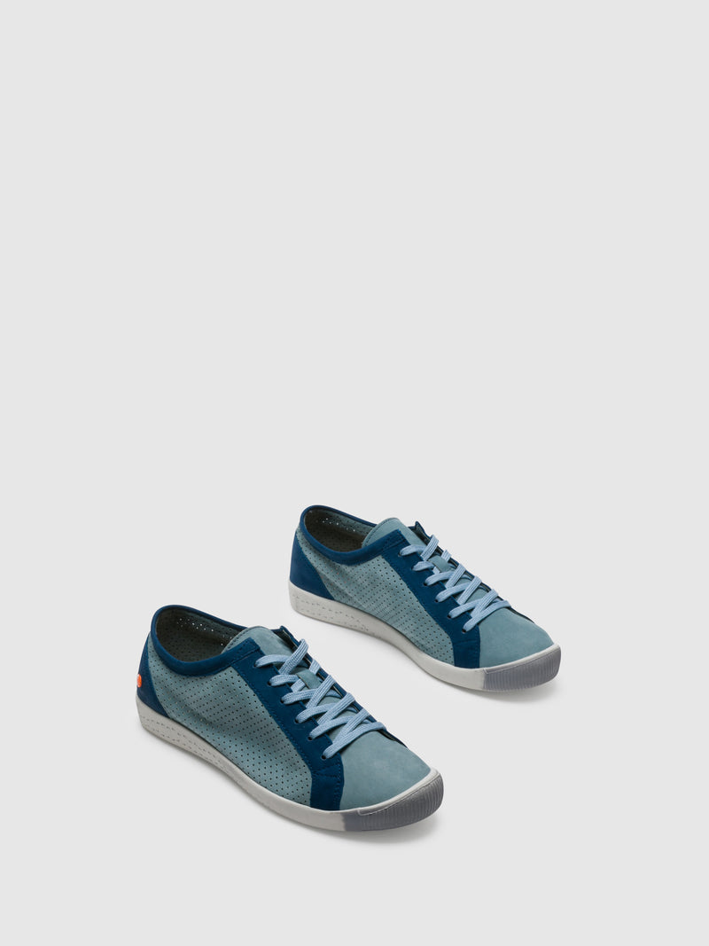 SOFTINOS Blue Lace-up Trainers