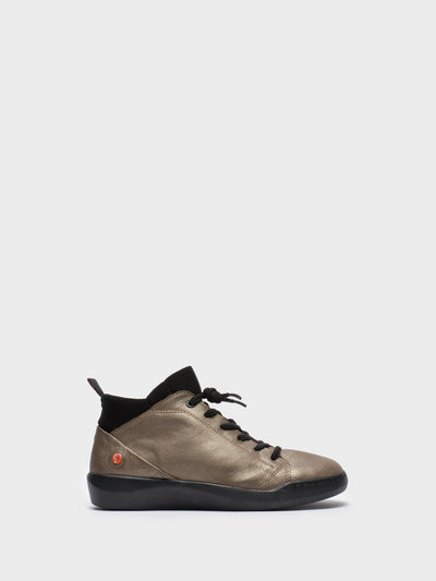 SOFTINOS Gray Hi-Top Trainers