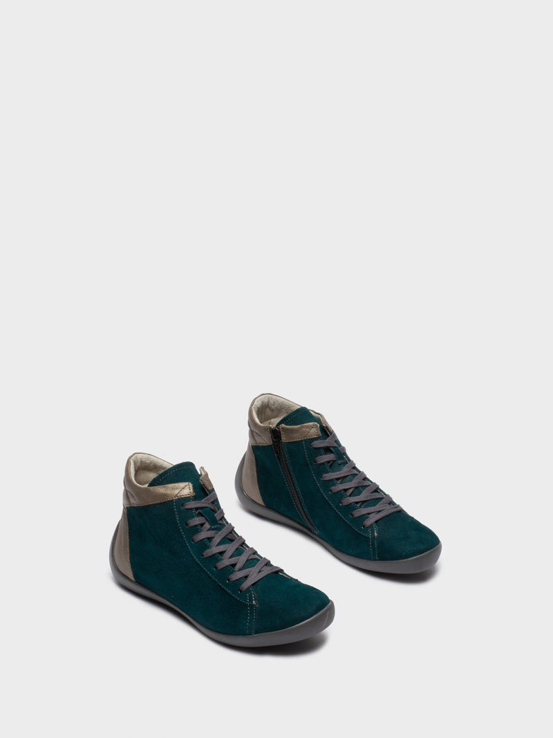 DarkGreen Hi-Top Trainers