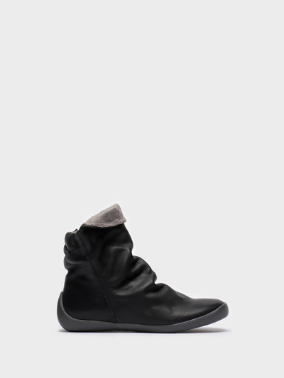 SOFTINOS Gray Black Zip Up Ankle Boots