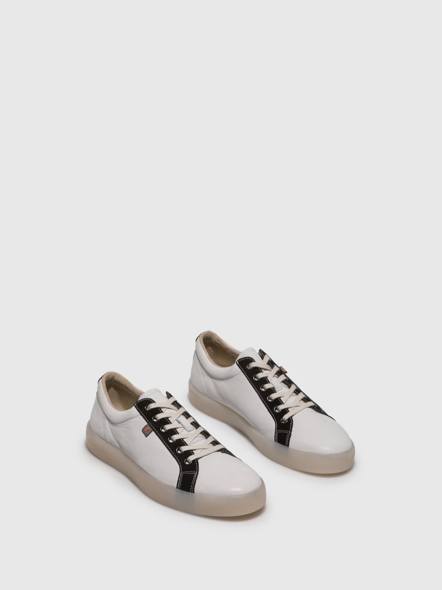 Softinos Lace-up Trainers REED595SOF White/Black