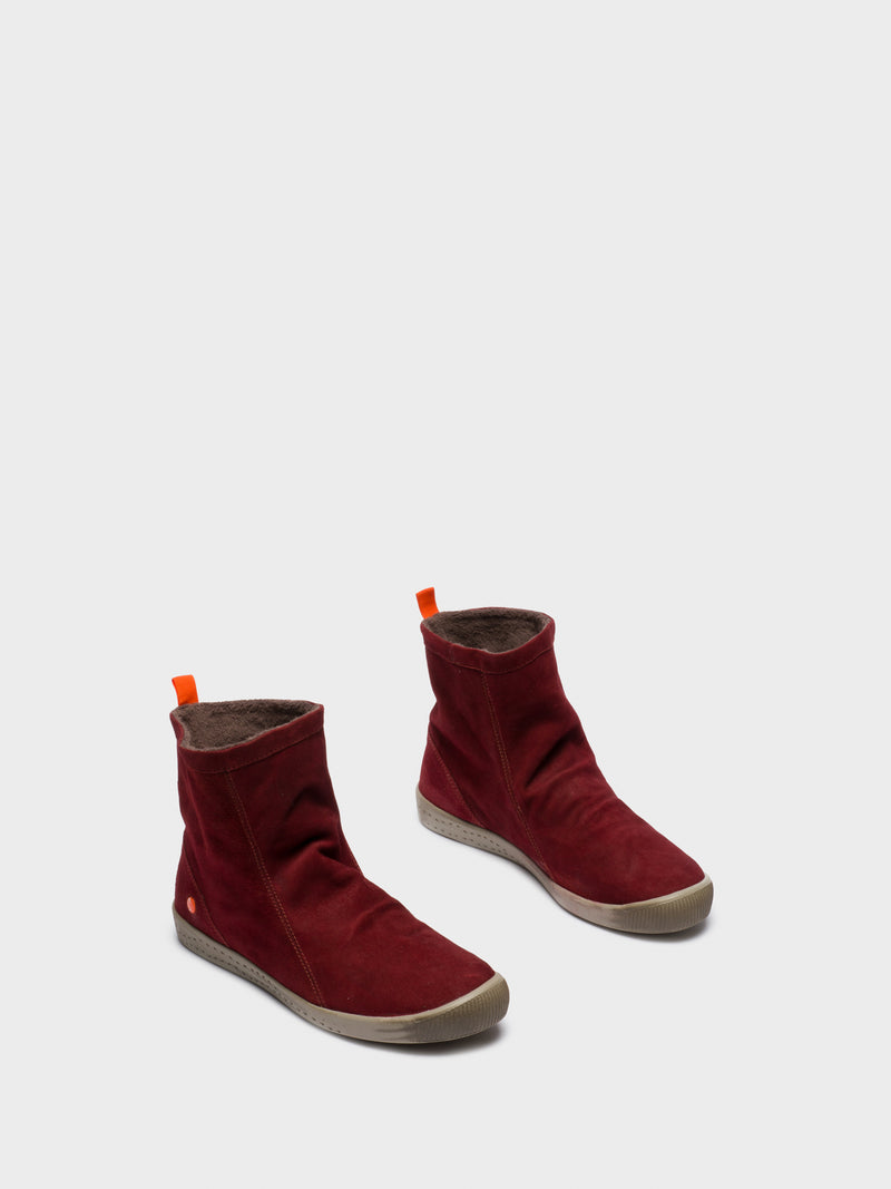 DarkRed Sock Ankle Boots