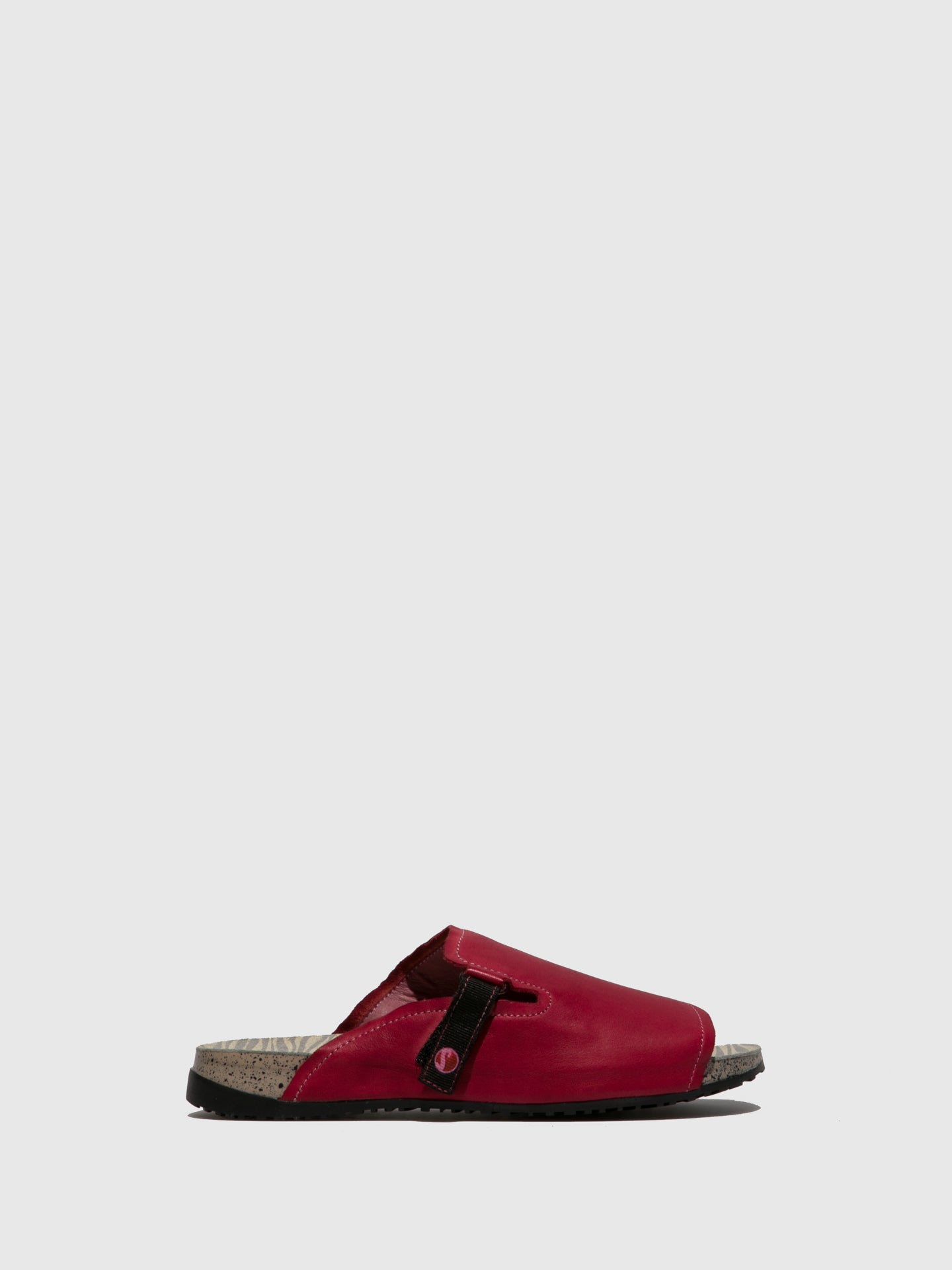 SOFTINOS Open Toe Mules KARI590SOF Red