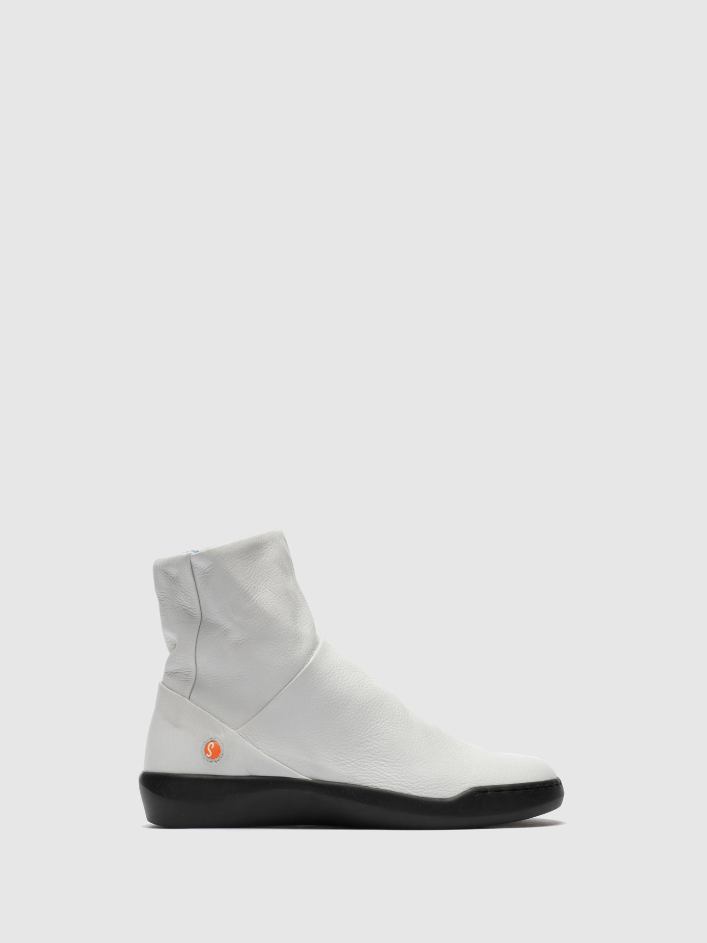 SOFTINOS White Zip Up Ankle Boots