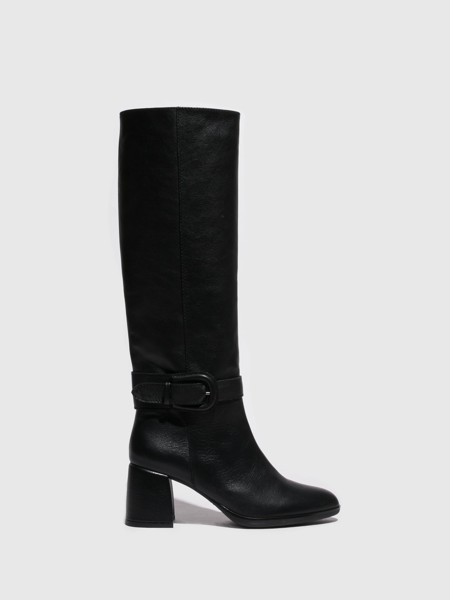 Sofia Costa Black Knee-High Boots