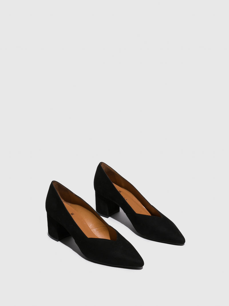 Sofia Costa Black Classic Pumps