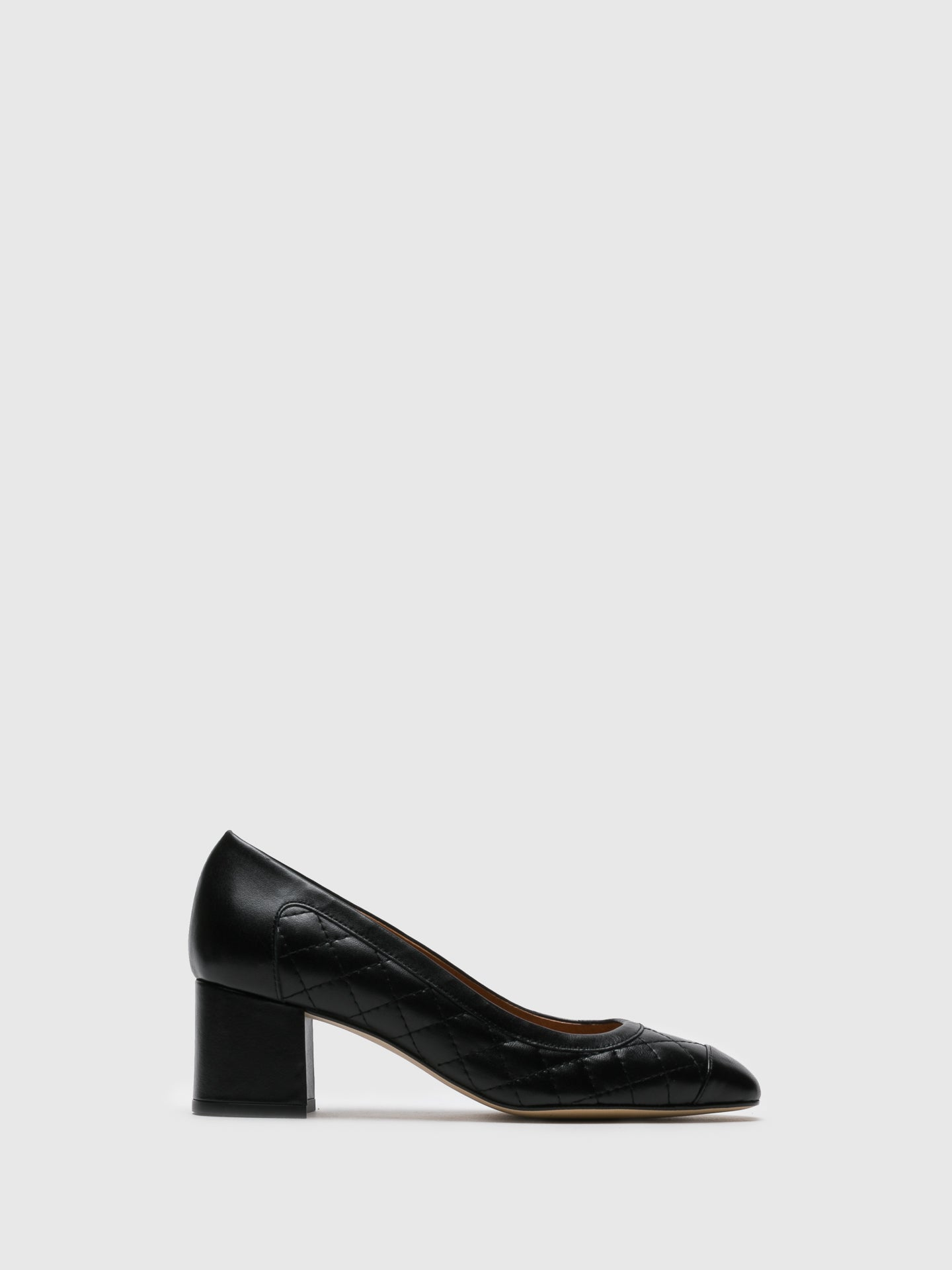Sofia Costa Black Round Toe Shoes