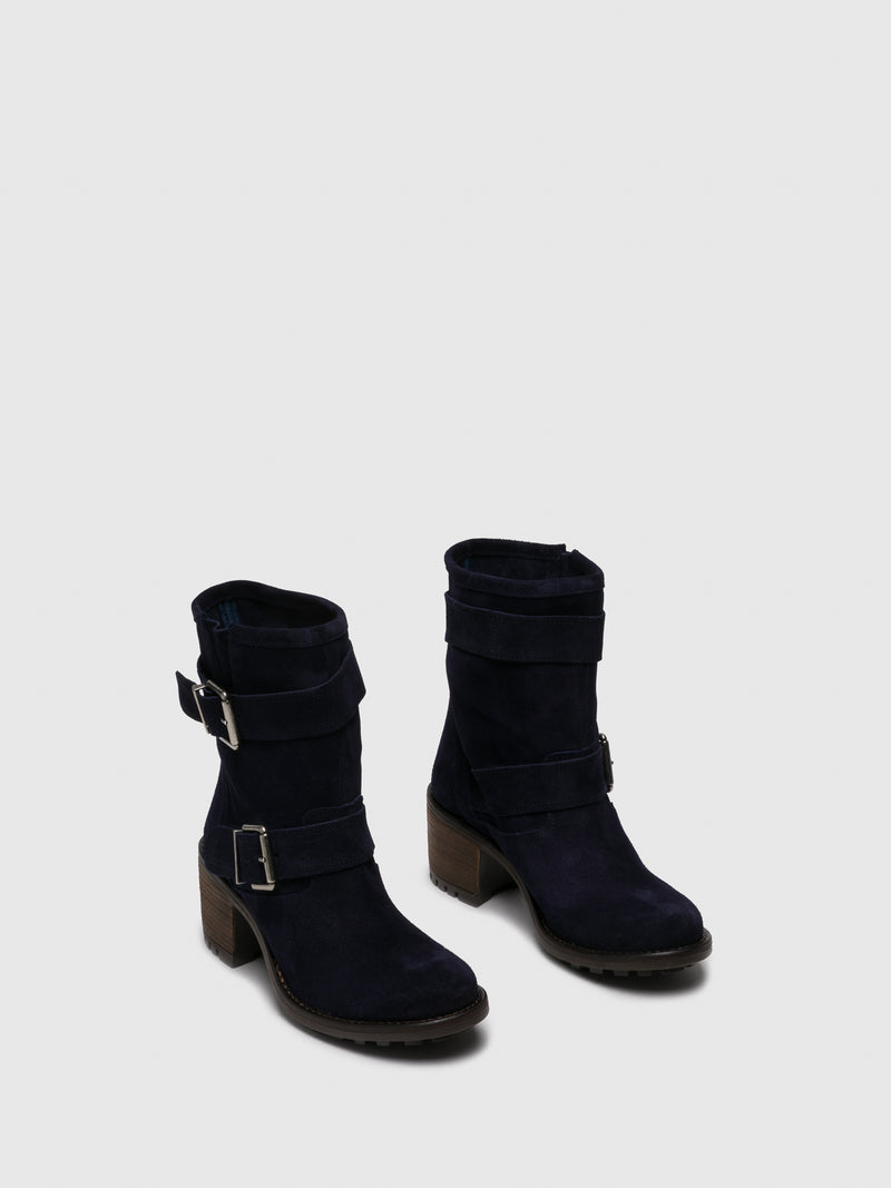 Blue Buckle Boots