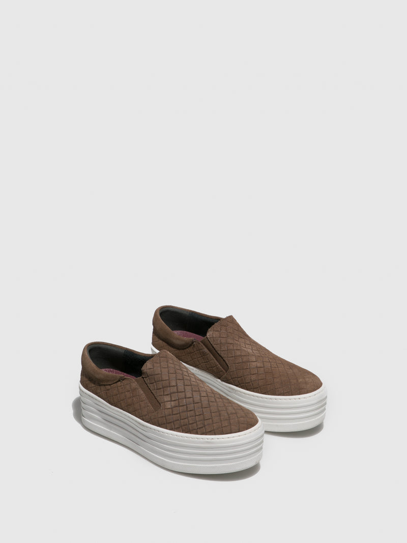 Taupe Slip-on Trainers