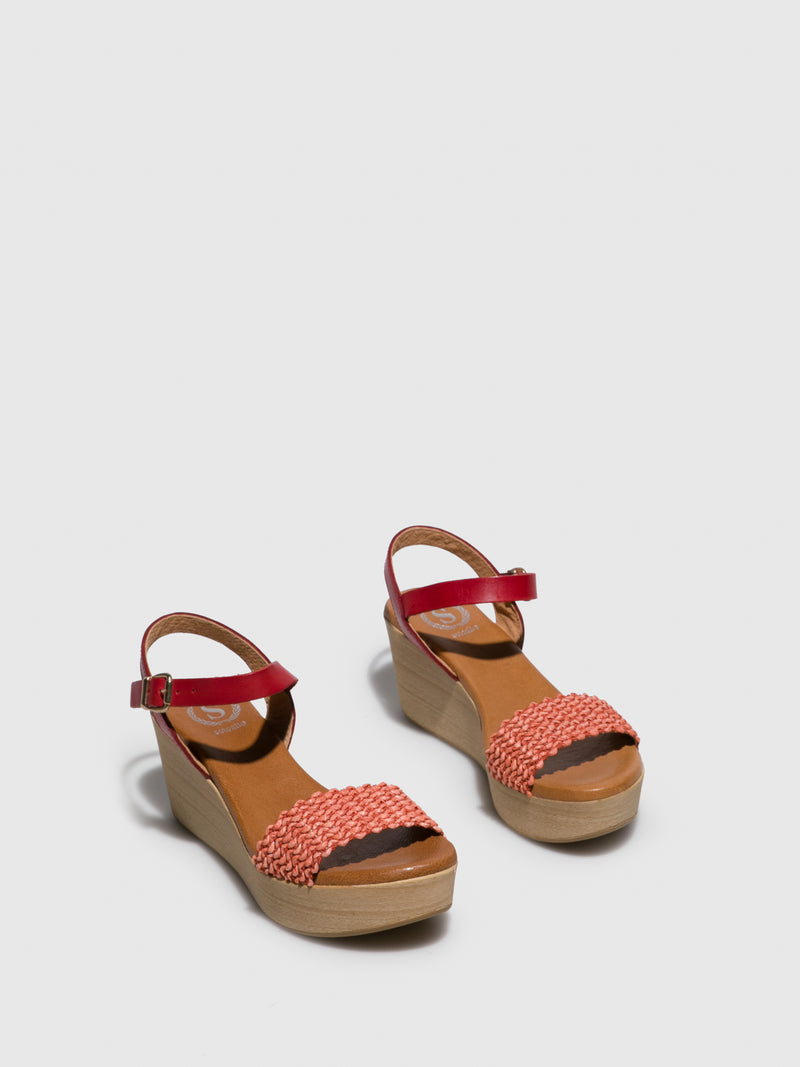 Sotoalto Red Wedge Sandals
