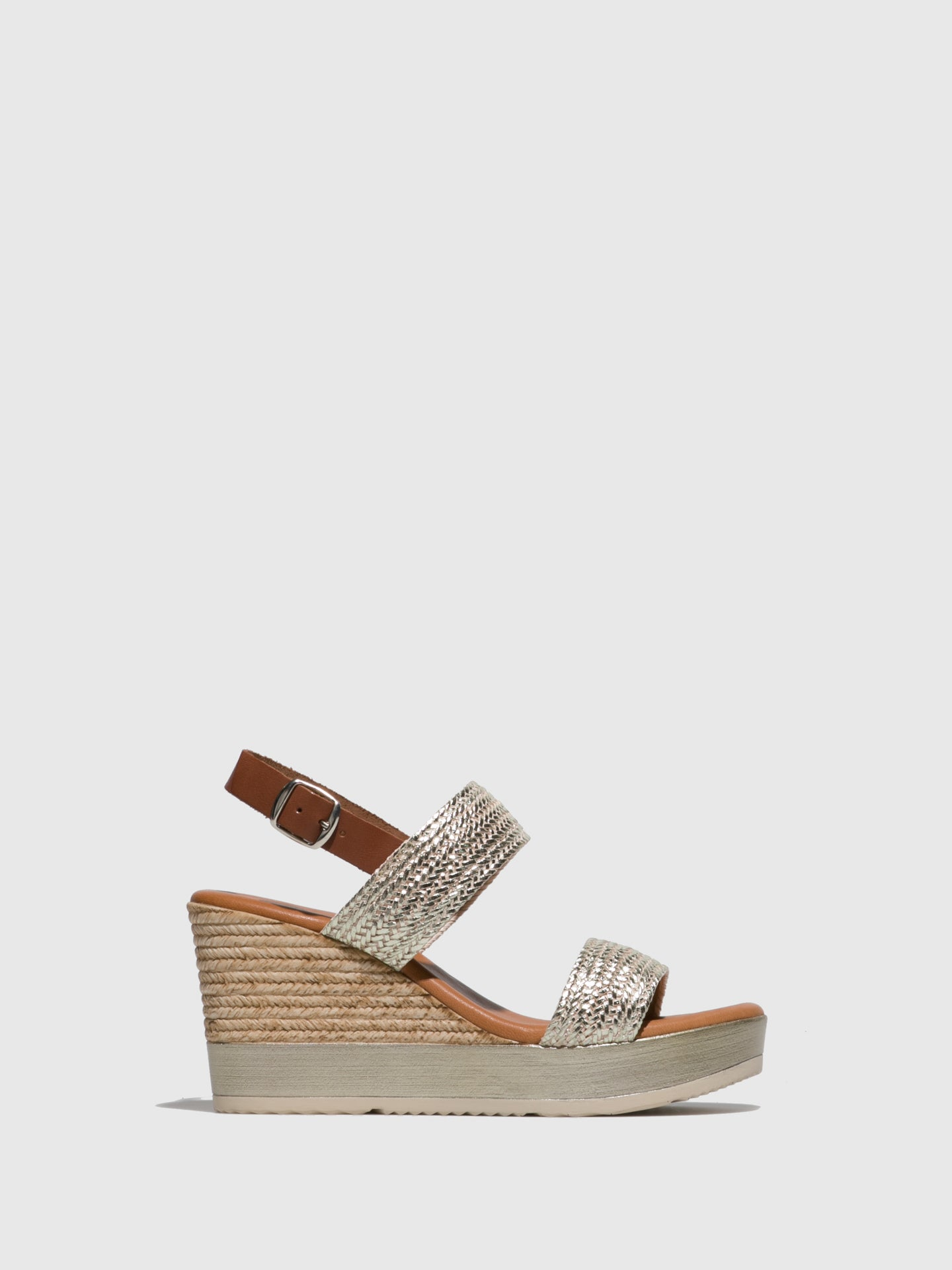 Sotoalto Gold Wedge Sandals