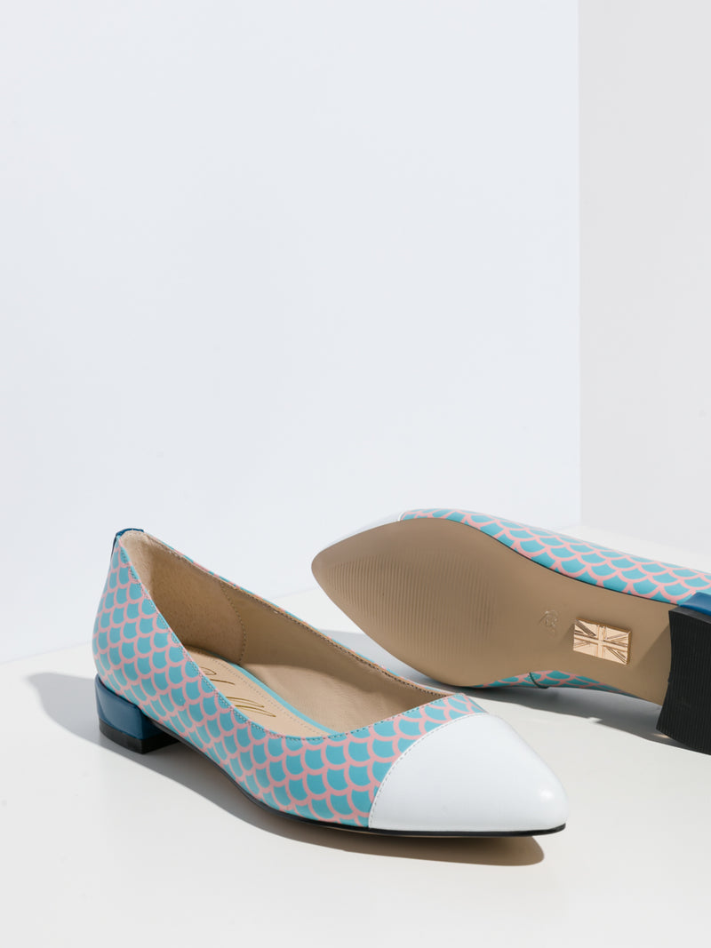 Multicolor Pointed Toe Ballerinas