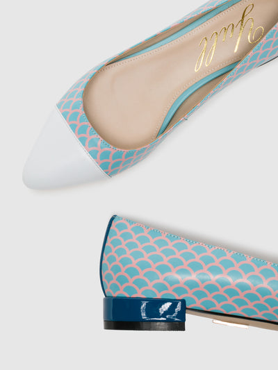 Yull Multicolor Pointed Toe Ballerinas