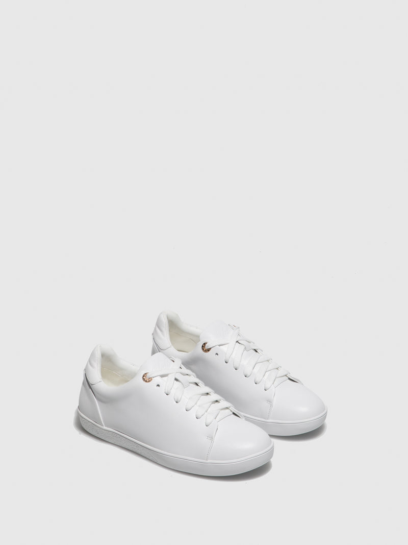 Yull White Lace-up Trainers