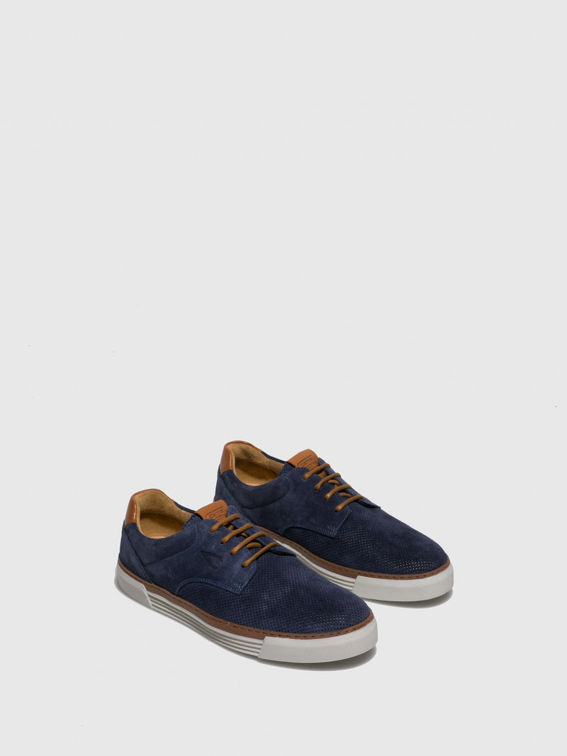 Camel Active Blue Lace-up Shoes