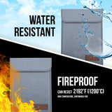 Unamic 2 Pack Bundle Fireproof Water-Resistant Bag
