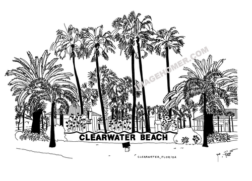 Clearwater Beach Florida Sign