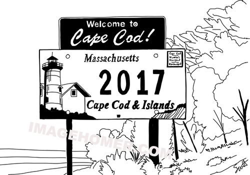 Welcome To Cape Cod Massachusetts Sign 2017